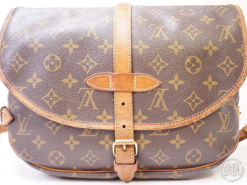 authentic pre-owned louis vuitton lv saumur 30 monogram compartment messenger bag m42256 200356