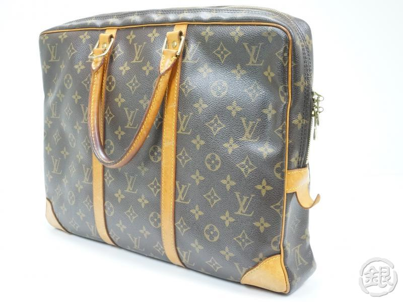 AUTHENTIC PRE-OWNED LOUIS VUITTON MONOGRAM PORTE-DOCUMENTS VOYAGE BRIEFCASE BAG M53361