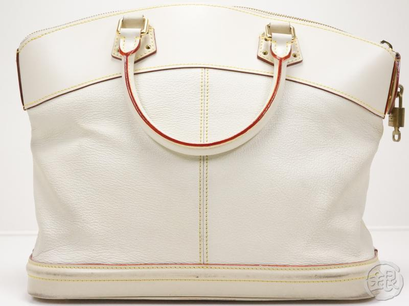 AUTHENTIC PRE-OWNED LOUIS VUITTON SUHALI BLANC WHITE LOCKIT MM HAND LARGE TOTE BAG M91874 150832