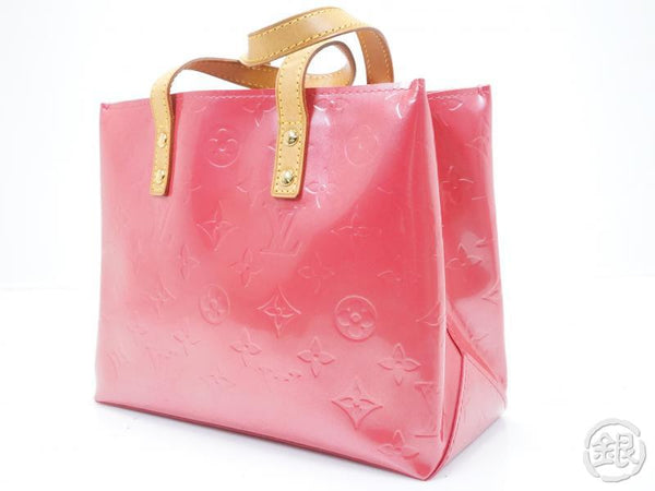 AUTHENTIC PRE-OWNED LOUIS VUITTON VERNIS  FRAMBOISE PINK READE PM TOTE BAG M9132F 150871