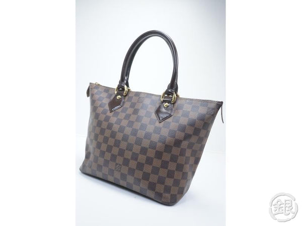 AUTHENTIC PRE-OWNED LOUIS VUITTON DAMIER EBENE SALEYA PM SHOULDER TOTE BAG N51183 151612