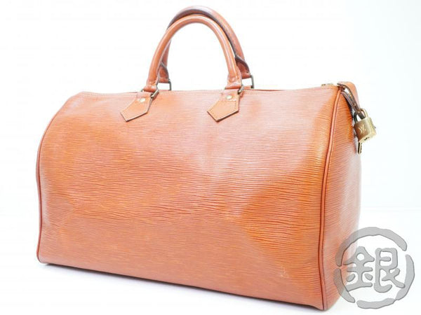 AUTHENTIC PRE-OWNED LOUIS VUITTON EPI KENYAN BROWN SPEEDY 35 LARGE HAND BAG DUFFLE BAG M42993 181725