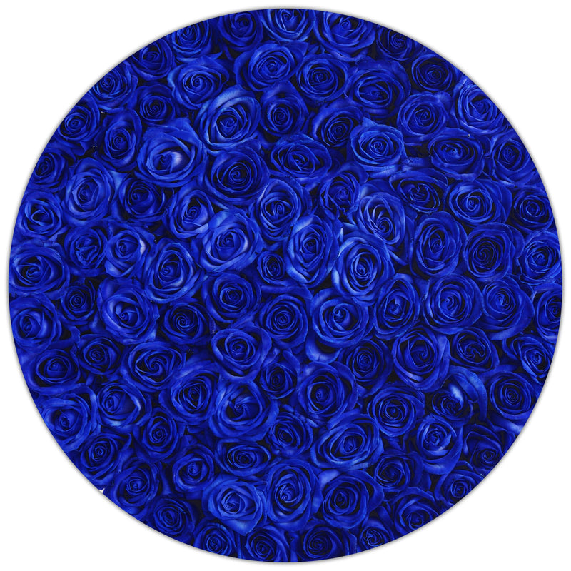 The Million Large Luxury Box - Blue Roses - White Box - The Million Roses Slovakia