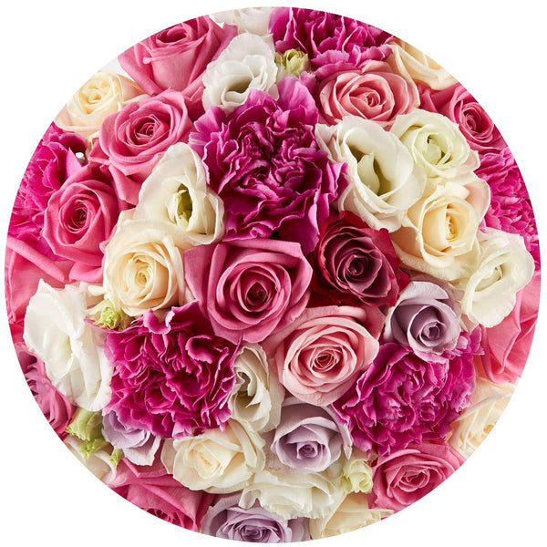 Small - Mix Roses - White Box - The Million Roses Slovakia
