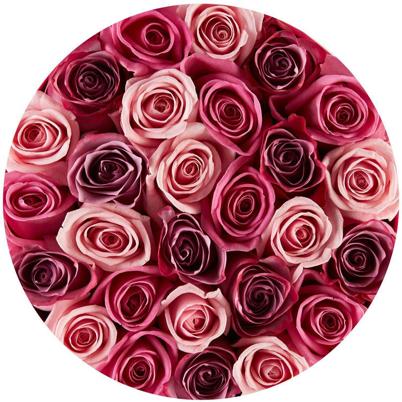 Small - Pink Mix Roses - Pink Box - The Million Roses Slovakia