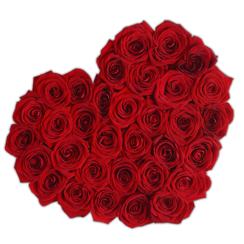 The Million Love Heart - Red Eternity Roses - White Box - The Million Roses Slovakia