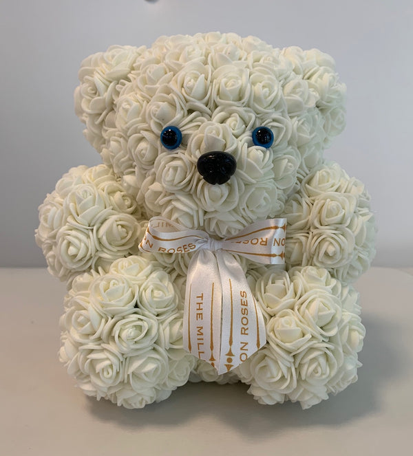 Rose Bear- White - The Million Roses Slovakia