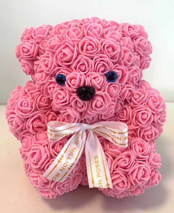 Rose Bear -Pink - The Million Roses Slovakia