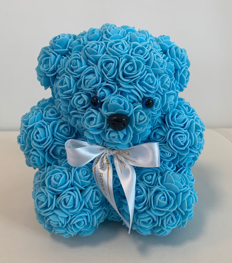 Rose Bear -Blue - The Million Roses Slovakia
