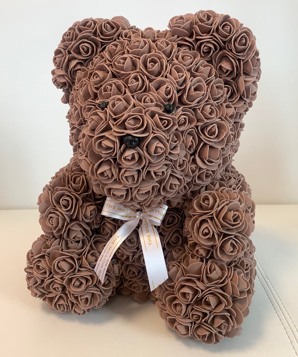 Rose Bear- Brown, 40cm - The Million Roses Slovakia