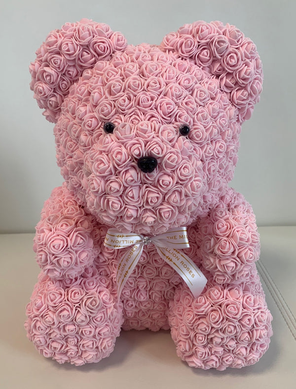 Rose Bear- Light Pink, 40cm - The Million Roses Slovakia