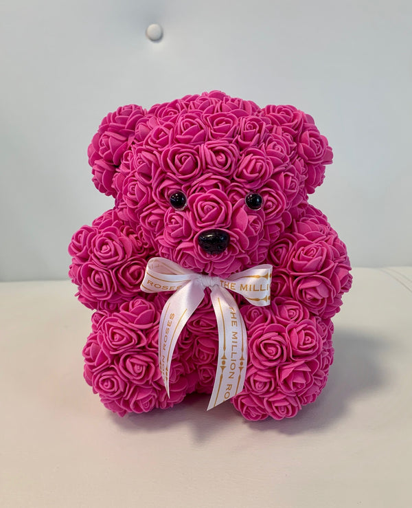 Rose Bear- Dark Pink - The Million Roses Slovakia