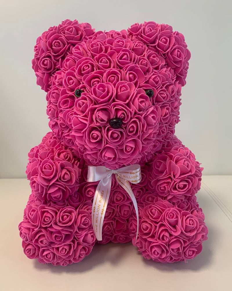 Rose Bear - Pink, 40cm - The Million Roses Slovakia