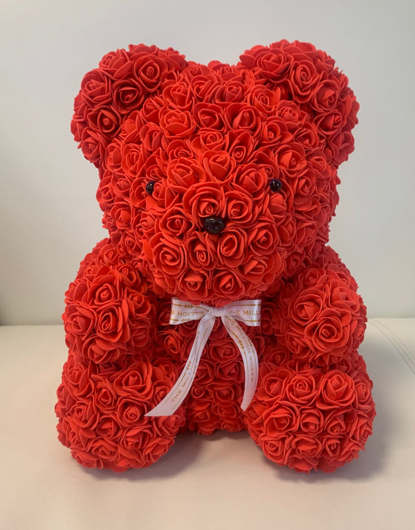 Rose Bear- Red, 40cm - The Million Roses Slovakia