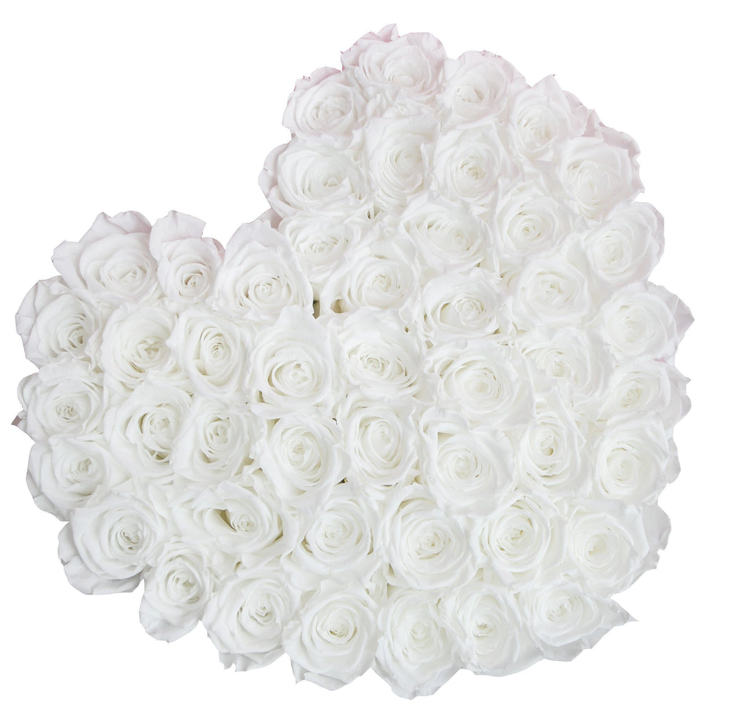 The Million Roses Europe - The Million Love Heart - White Eternity Roses - Hot Pink Box Delivered Anywhere in Europe