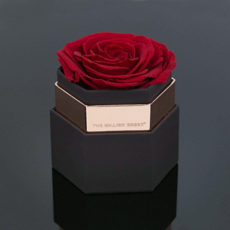One in a million™ hexagon - coffee box / Red Rose - The Million Roses Slovakia