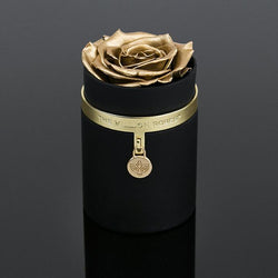 one in a million™ - čierny box / gold ring / gold metal charm / zlaté ruže - The Million Roses Slovakia