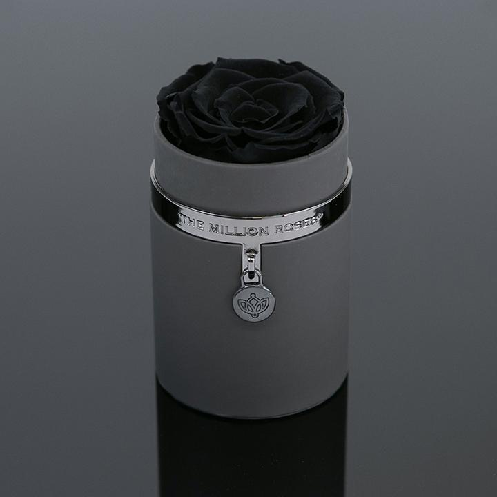 one in a million™ - sivý box / nickel ring / nickel charm / čierne ruže - The Million Roses Slovakia