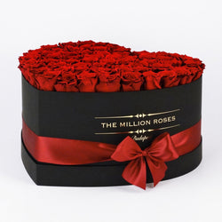 The Million Love Heart - Red Eternity Roses - Black Box - The Million Roses Slovakia