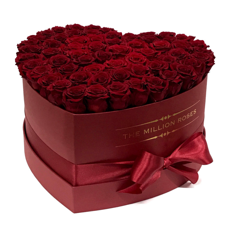 The Million Love Heart - Red Roses - Red Box - The Million Roses Slovakia