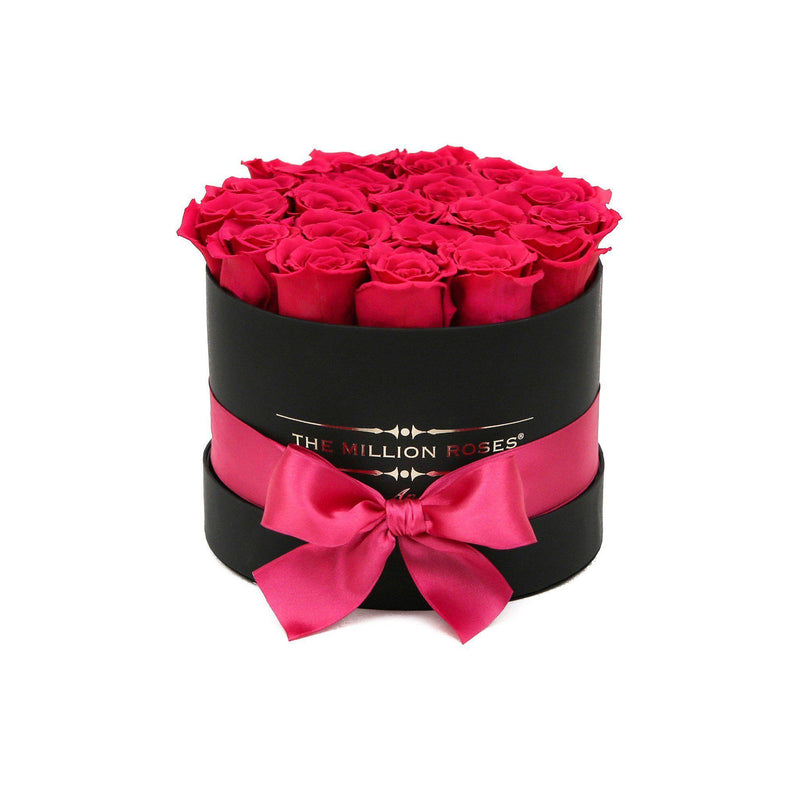 Small - Pink Roses - Black Box - The Million Roses Slovakia