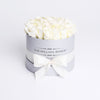 Small - White  Roses - Silver Box - The Million Roses Slovakia