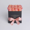 Cube - Peach Roses - Black Box - The Million Roses Slovakia
