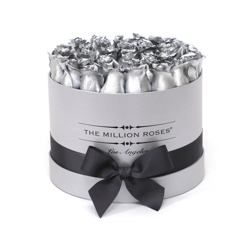 Medium - Silver Roses - Silver Box - The Million Roses Slovakia