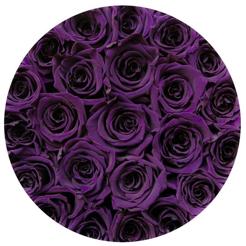 Small - Dark Purple Eternity Roses - Gold Box - The Million Roses Slovakia