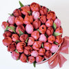 Small - Pink Tulips - White Box - The Million Roses Slovakia