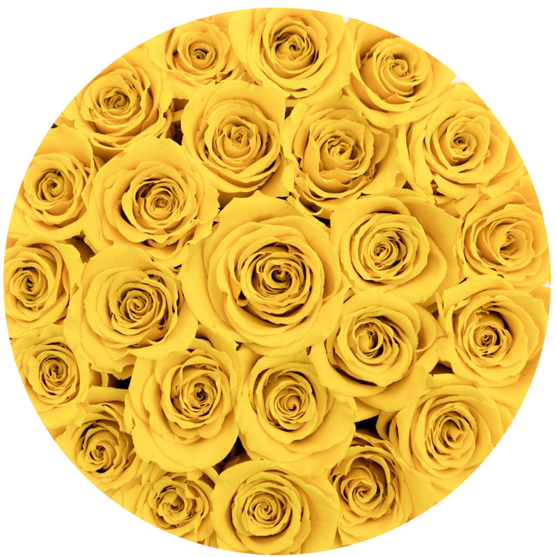 Small - Light Yellow Eternity Roses - Black Box - The Million Roses Slovakia