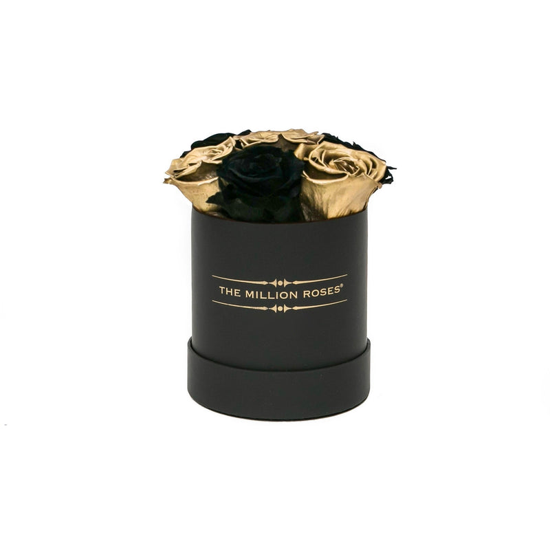 The Million Basic - Black & Gold  Roses - Black Box - The Million Roses Slovakia