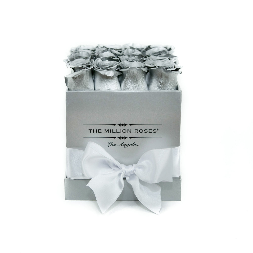 Cube - Silver Roses - Silver Box - The Million Roses Slovakia