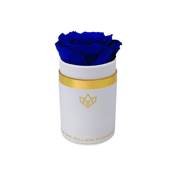 Single Rose Box - White Suede - The Million Roses Slovakia