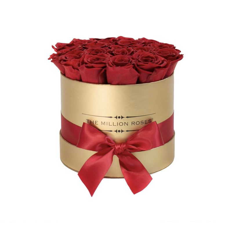 Small - Red Eternity Roses - Gold Box - The Million Roses Slovakia