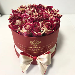 Small - Harlequin Roses - Red Box - The Million Roses Slovakia