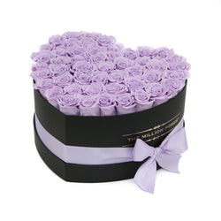 The Million Love Heart - Lavender Eternity Roses - Black Box - The Million Roses Slovakia