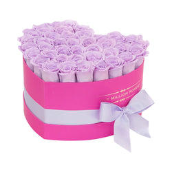 The Million Love Heart - Lavender Eternity Roses - Hot Pink Box - The Million Roses Slovakia