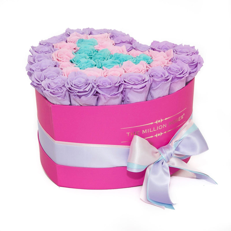 The Million Love Heart - Unicorn Eternity Rose Selection - Hot Pink Box - The Million Roses Slovakia