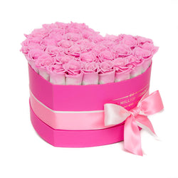 The Million Love Heart - Candy Pink Eternity Roses - Hot Pink Box - The Million Roses Slovakia