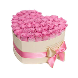 The Million Love Heart - Pink Roses - Vanilla Box - The Million Roses Slovakia