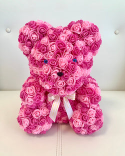 Rose Bear-  PINK, 40cm - The Million Roses Slovakia