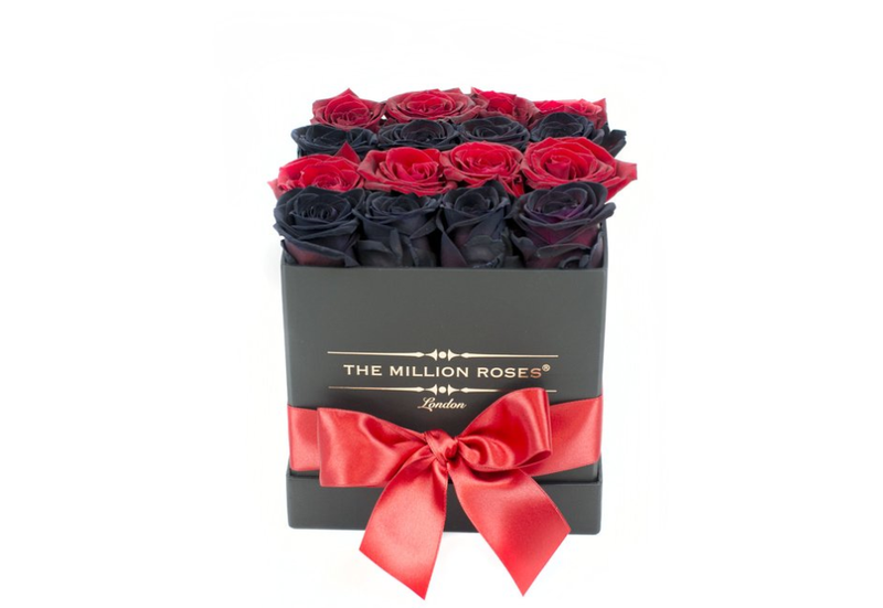 Cube - Black & Red Roses - Black Box - The Million Roses Slovakia