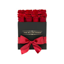 Cube Black Box- Red Eternity Roses - The Million Roses Slovakia