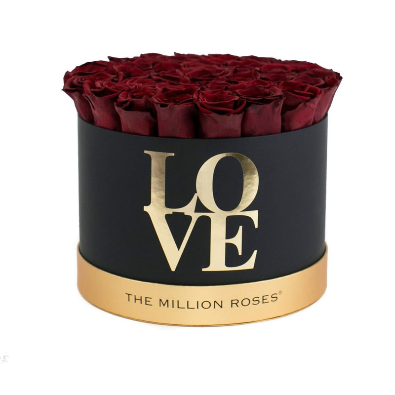 LOVE Medium - Red Eternity Roses - The Million Roses Slovakia