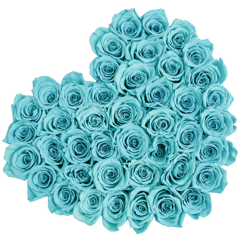 The Million Love Heart - Tiffany Blue Eternity Roses - Hot Pink Box - The Million Roses Slovakia