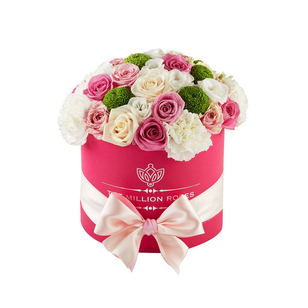 Small - Pink Mix - Hot Pink Box - The Million Roses Slovakia
