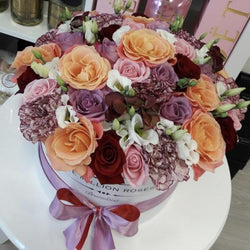 Medium - Mix Roses - White Box - The Million Roses Slovakia