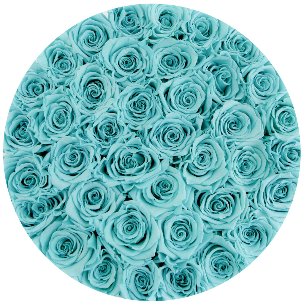 Medium - Tiffany Blue Eternity Roses - White Box - The Million Roses Slovakia