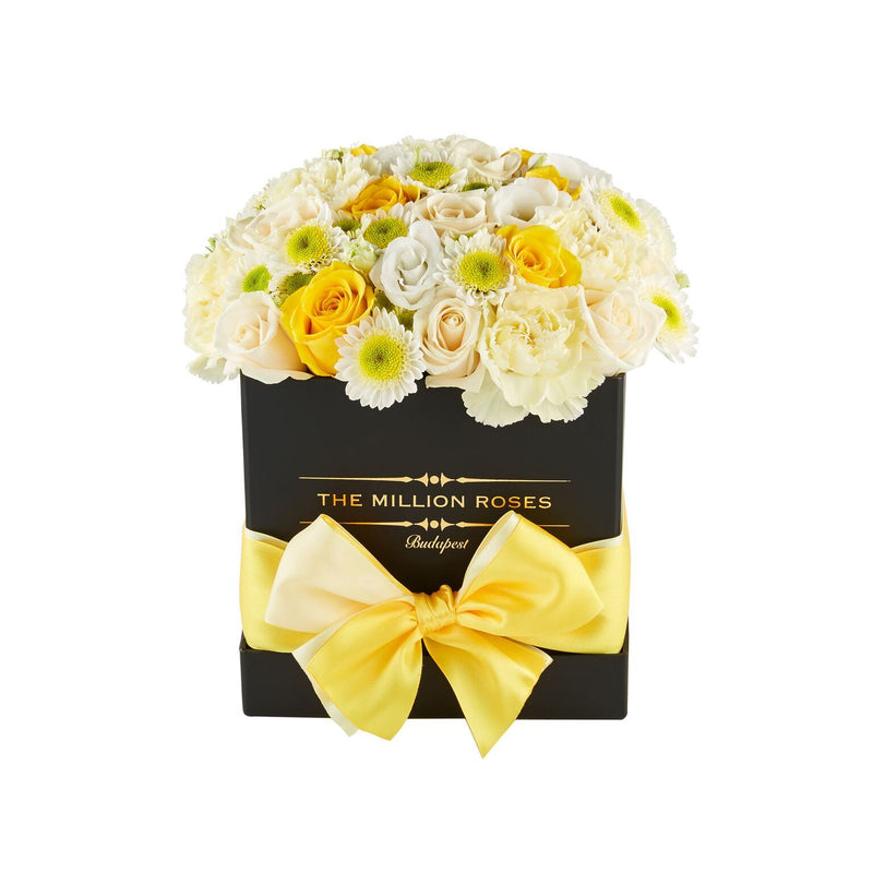 Cube - Yellow Mix - Black Box - The Million Roses Slovakia